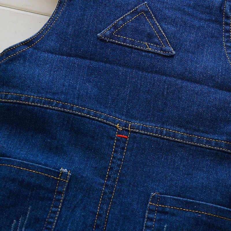 115a3558f98e ... BibiCola 2018 Baby Pants Toddler leisure styls Boys bib pants children  Denim Overall Trousers kids jeans