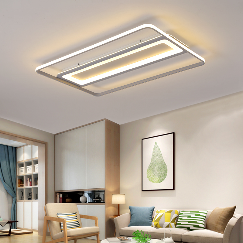 Grey Color Surface Mounted Modern led Ceiling Lights Aluminum+Acrylic Marks Rectangle/Square/Round Ceiling Lamp FixturesGrey Color Surface Mounted Modern led Ceiling Lights Aluminum+Acrylic Marks Rectangle/Square/Round Ceiling Lamp Fixtures
