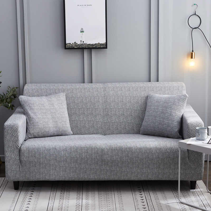 All Grey Color Printed sofa cover stretch sofa covers slipcovers love-seat  Couch cover for living home decoration