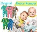 Qualidade macacão de lã marca romper footed macacão macacão de inverno de pelúcia de algodão para meninas natal do bebê menina pijama KD030