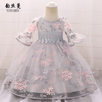 Elegant Baby Dress 3 6 9 12 24 Months Beading Embroidery New 1 Years Birthday Party Dresses Kids Girls Princess Costume 6L10A 貓 帳篷