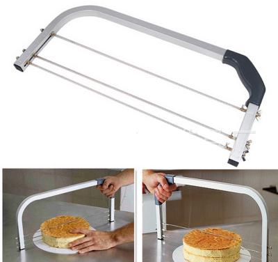 3 Blade Cake Cutter Leveller Decorating Wire Slicer Cutting Decorator Tool
