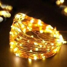 Светодиодный светильник 2 м, 5 м, 10 м, медный провод, светодиодный светильник для шкафа, гирлянда, Свадебный декор, Рождественская гирлянда, лампа для внутреннего дома, светильник ing