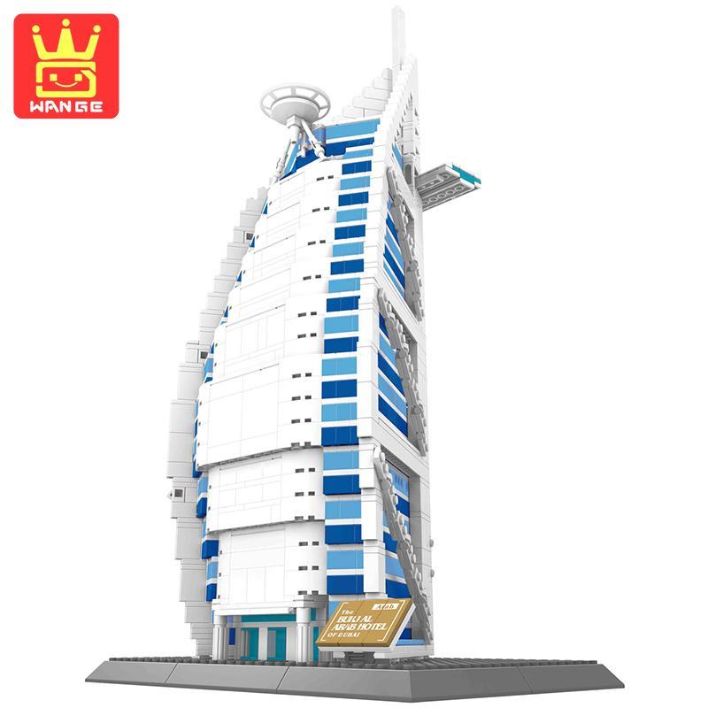 WANGE Dubai Burj Al Arab Hotel Structure 1307Pcs Action Building Blocks DIY Model Kit Bricks Toys Kids Learning Gifts promoting social change in the arab gulf