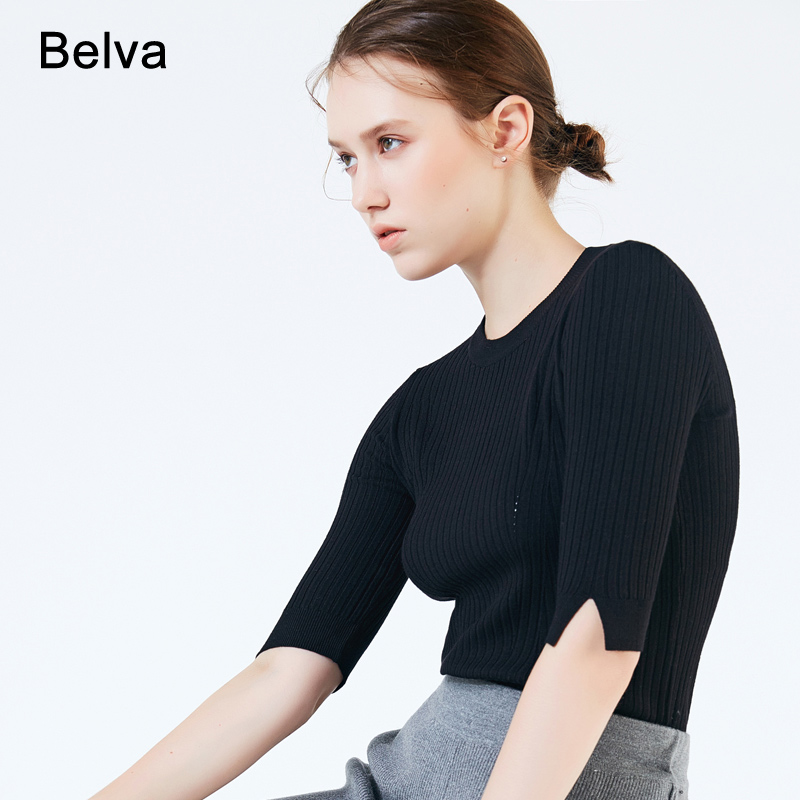 Belva New Arrival Women Maternity Sweater Autumn Winter Soft Knitting Jacquard Shirt Clothing for Pregnant Women Sweaters 716