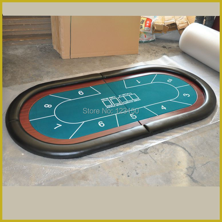 TP-B03 100*210CM Poker Table Top foldable Casino tabletop Two fold with waterproof fabric Big Size