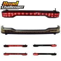 for Harley Touring Trunk King 14 17 Black red Wrap Tour Pack LED Tail Brake Running Light