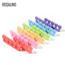 ROSALIND 2pcs/set Toe Separators Finger Foot Sponge Soft Gel UV Tools Salon Polish Manicure Pedicure Nail Art Tools 6 Colors