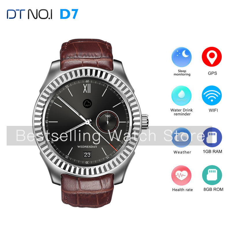 NO.1 D7 Smart Watch Android 4.4 Bluetooth 4.0 GPS WIFI 3G Smartwatches Heart Rate Monitor 1GB RAM 8GB ROM SIM Smart Wristwatch no 1 d6 1 63 inch 3g smartwatch phone android 5 1 mtk6580 quad core 1 3ghz 1gb ram gps wifi bluetooth 4 0 heart rate monitoring
