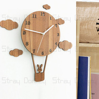 1 PCS Creative quiet living room idyllic art fashion decoration clock simple lovely large hanging watch big wall clock LU727144