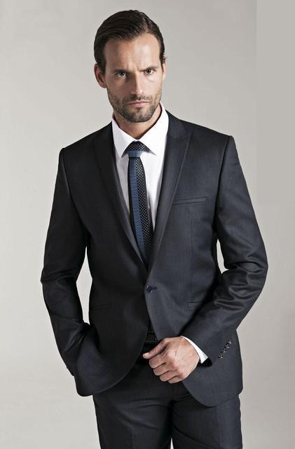 3aa5ca50b8f0 New Custom Made Nero Uomo Vestito Smoking Dello Sposo Da Sposa Modesto  Partito Abito di Sfera