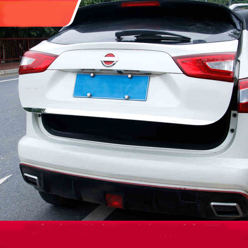 Stainless Steel Rear Tailgate Trunk Lid Cover Trim Car <font><b>Accessories</b></font> Styling For <font><b>Nissan</b></font> <font><b>QASHQAI</b></font> J11 <font><b>2014</b></font> 2015 2016 2017 2018 2019 image