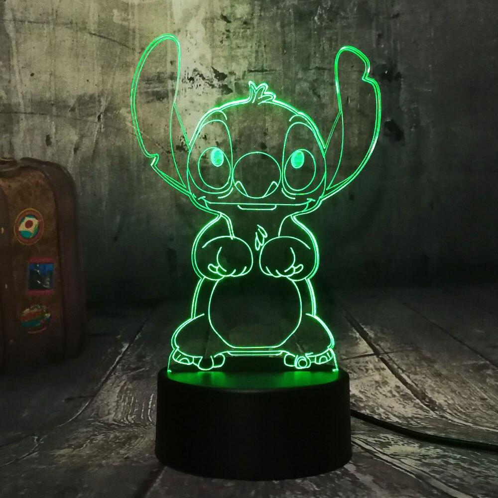acrilico criancas candeeiro mesa lampada cabeceira 03