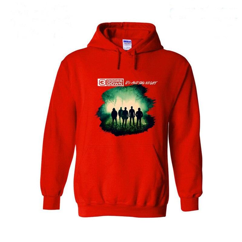 Mens Hoodies and Sweatshirts 3 Doors Down In The Dark Fashion Design Hooded 3d Hoodies Boys