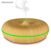 Aromacare 400ml Essential Oil Diffuser Ultrasonic Air Humidifier with Wood Grain 7 Color Changing LED Lights for Office Home