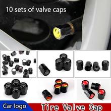 10 комплектов металлических колпачки для автомобильных шин черные автомобильные шиномонтажные крышки