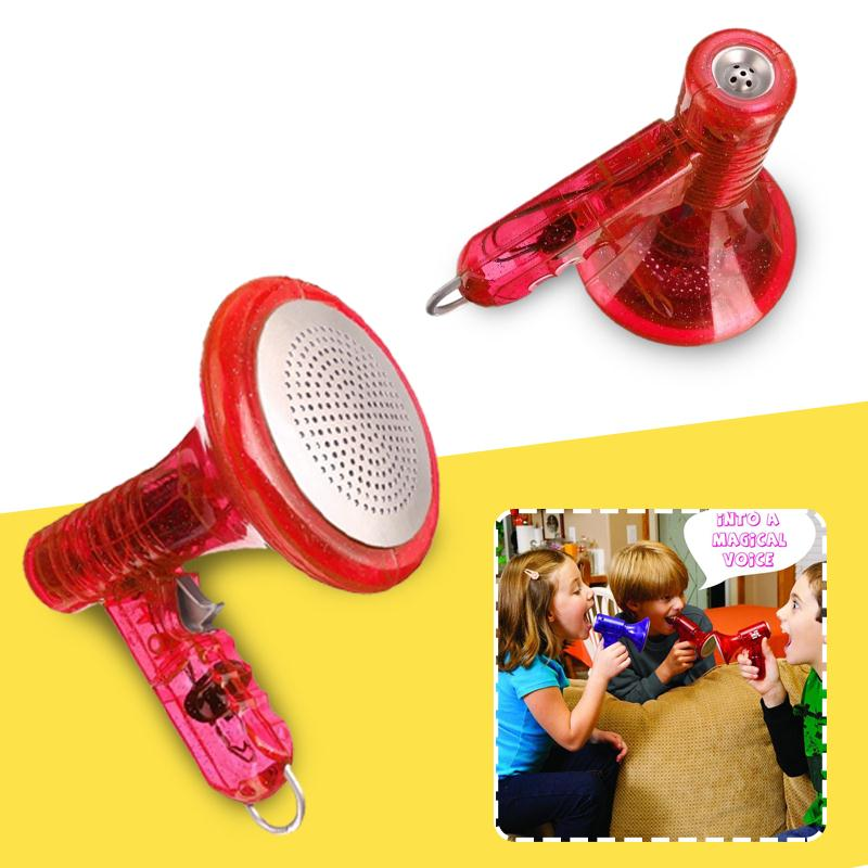 Mini LED Voice Changer Loud Children Kids Toy Sound Effects Boy Gift Red Children Kids Toy Interactive Educational Toys