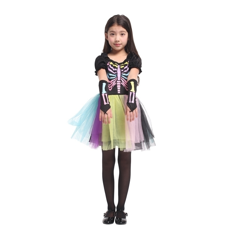 scary skeletone halloween costume for kids witch animal princess girl  children child scary clown costumes kid