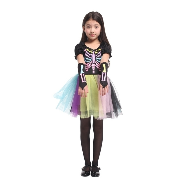 Scary Skeletone Halloween Costume For Kids Witch Animal Princess