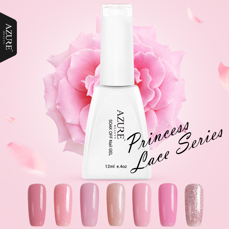Gel Nail Polish Light Pink: ᑎ‰Azure Beauty Princess Series Colors √ UV UV Gel Polish