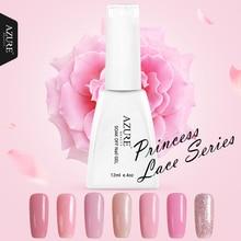 Azure Beauty Princess Series Colors UV Gel Polish Pink Gel Soak-off Led Lamp Nail Gel Polish Varnish For Long-lasting Gel Polish