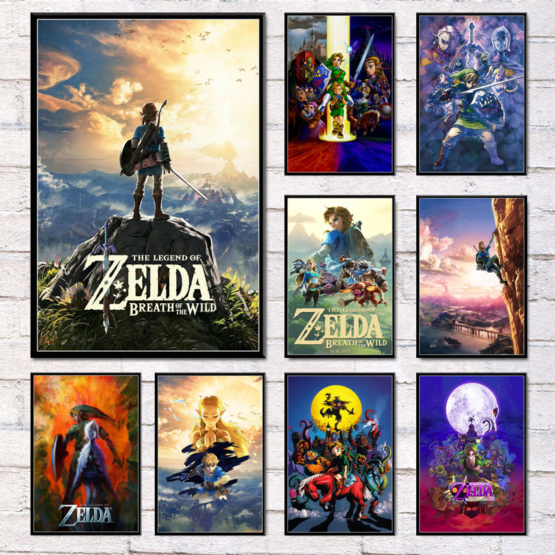 Game Silk Legend of Zelda Poster Japanese Anime Home Decor Wall Scroll 60x90cm