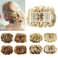 Wavy Curly Hair Chignon Two Plastic Comb Clip in Elastic Fake Hair Bun Hairpiece Extension Accessories Synthetic Natural Hair