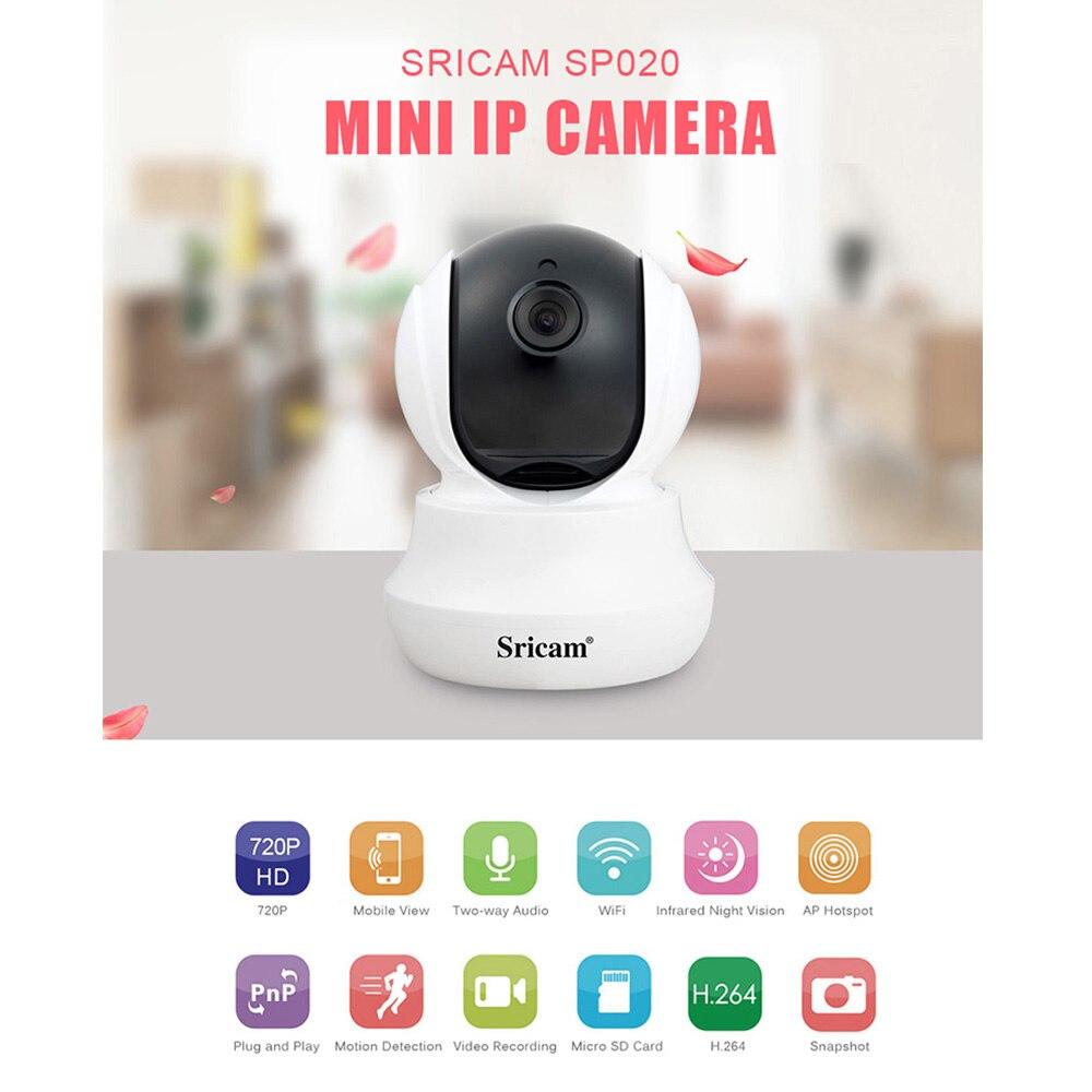 SP020 Wireless Wifi Baby,Pet Monitor Panoramic IP CCTV Camera Night Vision Alarm