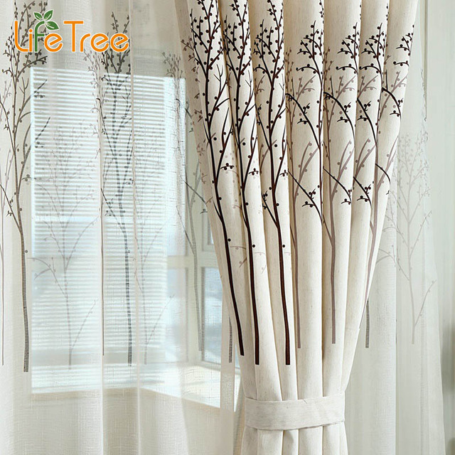 Curtains Ideas bedroom drapes and curtains : Aliexpress.com : Buy Modern Tree Linen Curtains For Bedroom Living ...