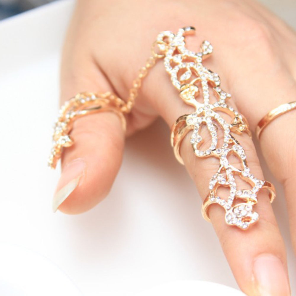 Կանանց կրկնակի մատների մատը ՝ Thumb Ring - Նորաձև զարդեր - Լուսանկար 3