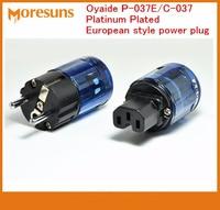 Rapide Bateau Libre 2 paires/lot Pour Oyaide P-037E/C-037 Platine Plaqué style Européen plug power/Européenne standard électrique source