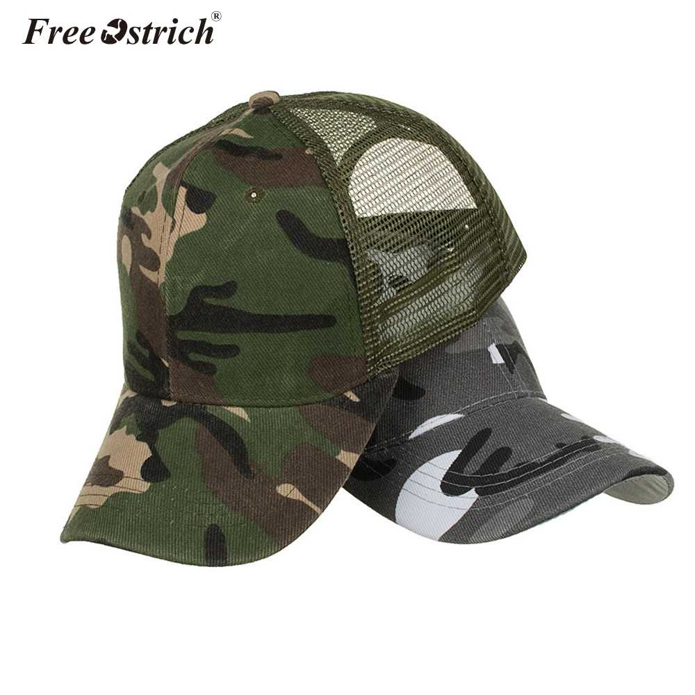 25fe8395fda Detail Feedback Questions about Free Ostrich Snow Camo Baseball Caps Men  Summer Mesh Cap Tactical Camouflage Hat For Men Women Bone Masculino Dad  Hat Caps ...