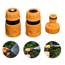 Quick Tap Water Connector Adapter Fast Coupling Adaptor Drip Tape Barbed Irrigation Hose Connector Garden Tool