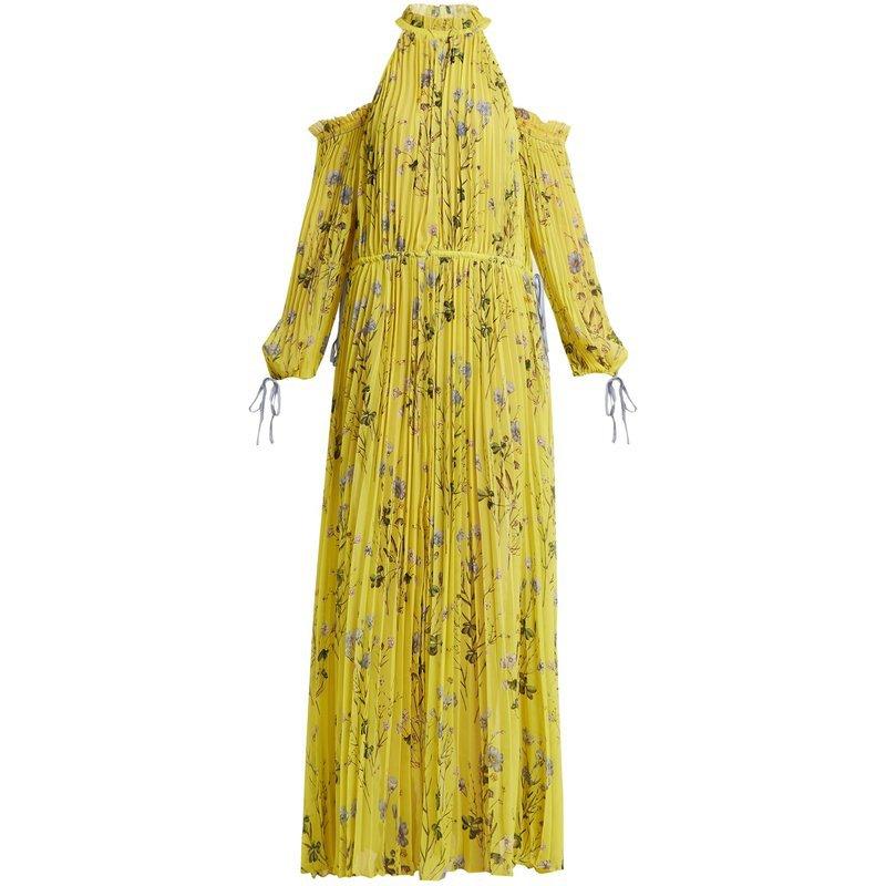 Défini Femmes De Yd Vacances Halter Plage Vocation Robe L'épaule Jaune Qualité Imprimer Longues Plissée Haute 2018 Yellow ever wqxrqXz0