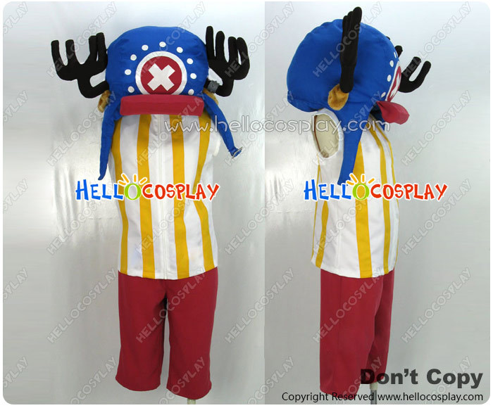 One Piece Cosplay Costume Tony Tony Chopper Two Years Before And Later Blue Hat H008