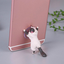 Tablets Desk Car Stand Universal Cute Cat Cell Phone Holder Mount Sucker Bracket Mobile Phone Bracket for iPhone X 7 6 for iPad цена и фото