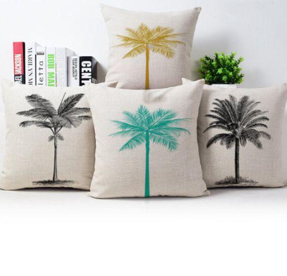 Superieur Beige Throw Pillows Case Palm Tree Cushion Cover Plant Country Decor Capa  De Almofada Car Sofa Decorative Pillow Cover In Cushion Cover From Home U0026  Garden ...