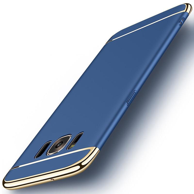 Samsung Galaxy S8 Plus Hard Shell Coque Üçün 1 Qızıl örtüklü - Cib telefonu aksesuarları və hissələri - Fotoqrafiya 3