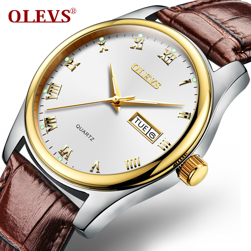 2017 NEW Business Watches Fashion Casual OLEVS Brand Waterproof Quartz Watch Men Leather Water Resistant Man Clock reloj hombre casual leather band mens watch fashion business analog display quartz wristwatches montre homme water resistant luminous clock