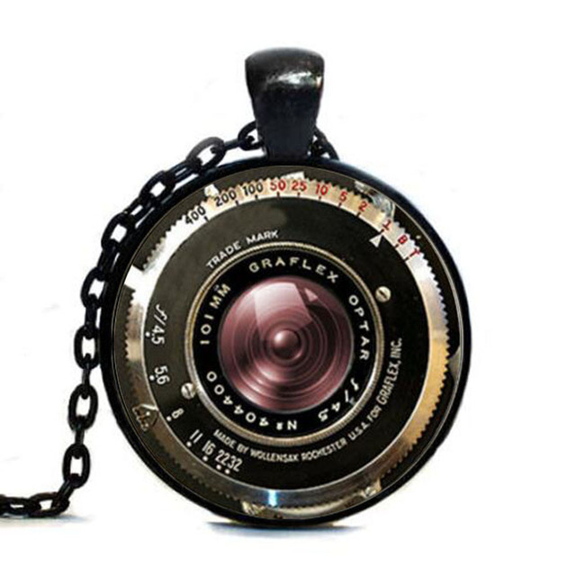 Vintage camera tag pendant antique camera lens tag gray black vintage camera tag pendant antique camera lens tag gray black jewelry mozeypictures Image collections