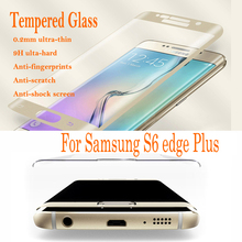 3D Curved Full Screen Tempered Glass Screen Protector For Samsung S6 edge Plus With Retail Package