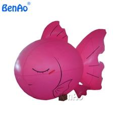 AO028 4.5 m PVC gonfiabile cielo palloncino palloncino a elio/eventi di pesce per la pubblicità/giant volare aerostato di pubblicità con si logo