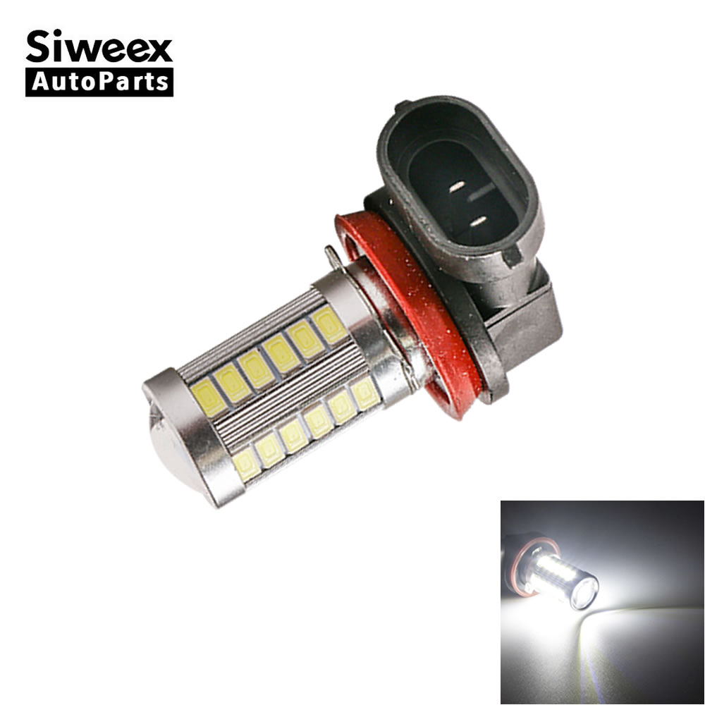 1 PCS H8 H11 33 5730 SMD LED Top Lens Lighting Fog Light Driving Lamp Bulb 12V White 360 Degrees