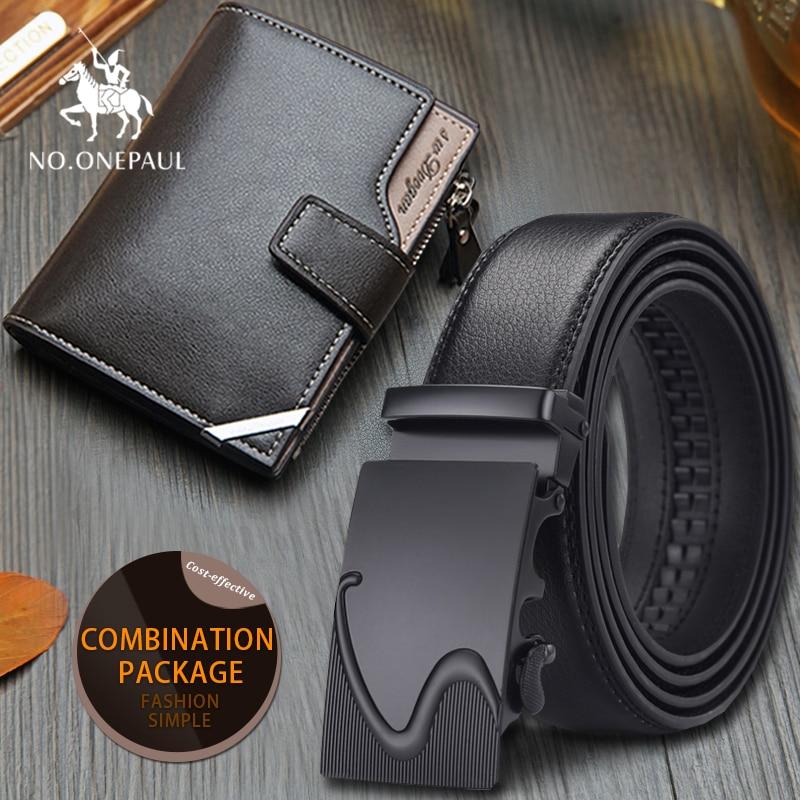 Set/sets Suit Men Belt 100 Cm-130 Cm Luxury Belt 2019 New Designer Automatic Buckle Leather  Pattern Surface Grain Durable Cosy