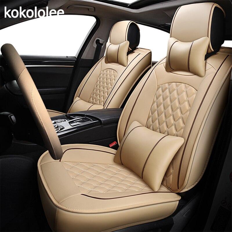 [KOKOLOLEE] Cuoio DELL'UNITÀ di elaborazione di Copertura di Sede Dell'automobile Per Volvo XC60 XC90 S60L S90 V40 V60 S60 V70 s40 s60 c70 2013-2016 accessori auto styling