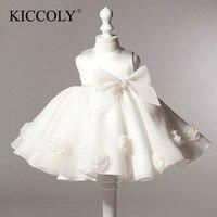 New Arrival Dziewczynka Suknia Balowa Scoop Glitz Pageant Kwiat Dziewczyny Sukienki Dla Dzieci Pierwsza Komunia Święta Suknia Ślubna