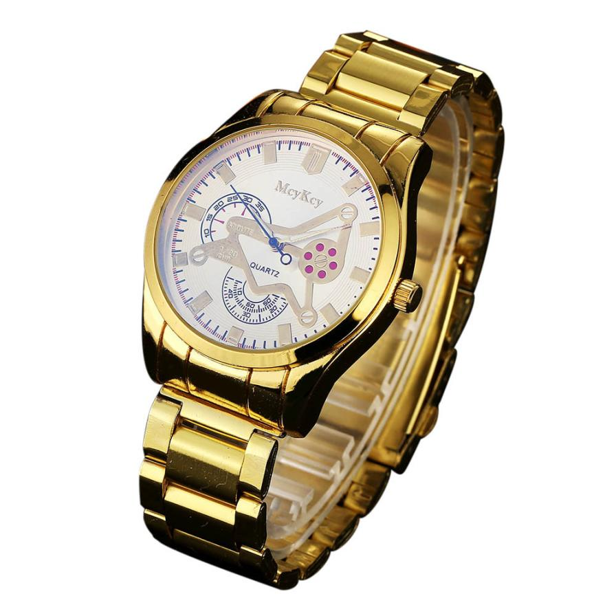 online get cheap expensive watches men aliexpress com alibaba group mcykcy 2017 simple stainless steel fashion men analog quartz wrist watch gold band expensive my040