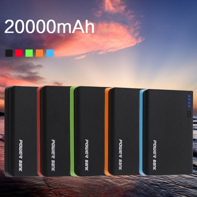 DIY Kits Power Bank Shell Cover 4 USB Ports Welding Power Bank Charger Case PCBA Module Powered By 4pcs 18650 Batteries