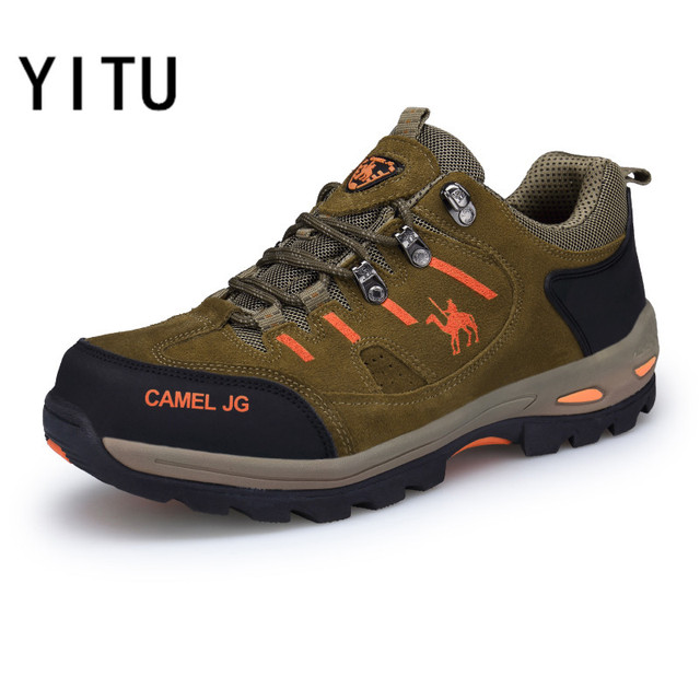YITU Outventure Men's Hiking Shoes Big Size Winter Sneakers Anti-skid Outdoor Sports Sneakers Climbing Tactical Boots Free Ship