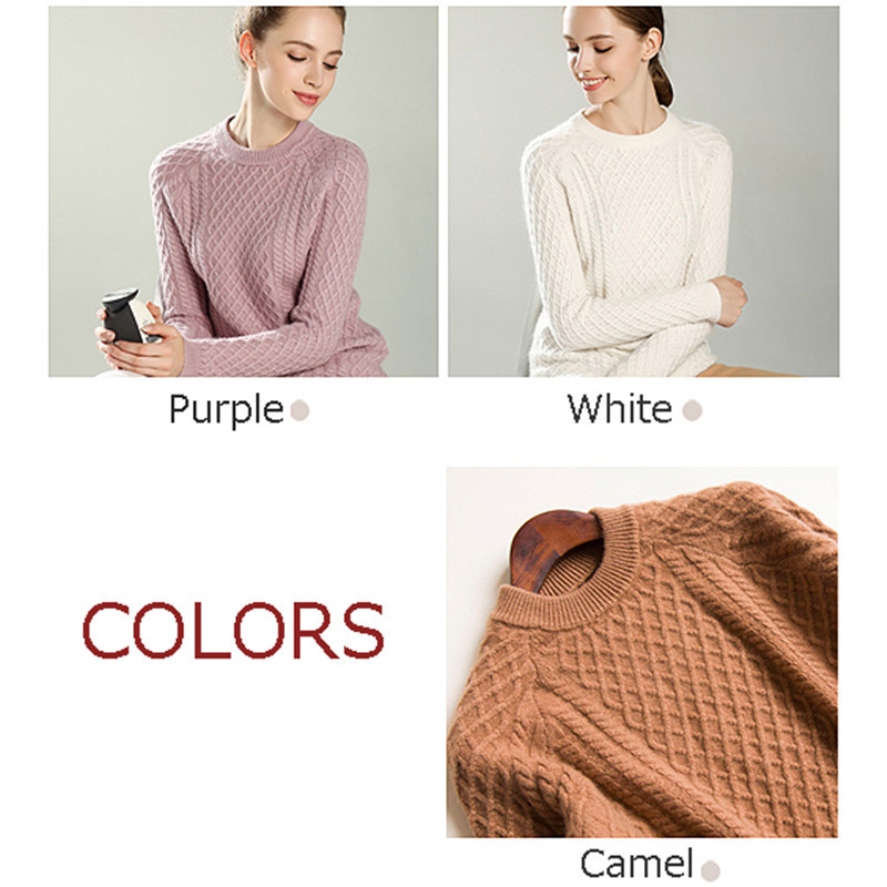 413d79150d4d Cable Knit Sweater Female Tops Long Sleeve Roll Neck Loose Long Light  Weight Knitting Pattern Women s Pullover Jumpers-in Pullovers from Women s  Clothing on ...